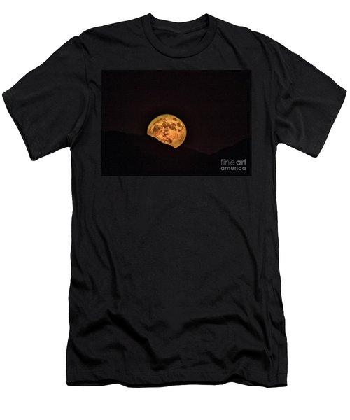 Rising Supermoon Men's T-Shirt (Slim Fit) by Robert Bales