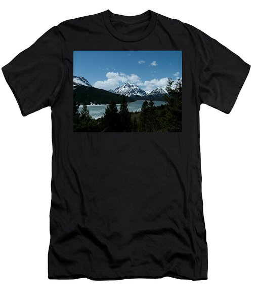 Rising Wolf And Two Medicine Lake Men's T-Shirt (Athletic Fit)