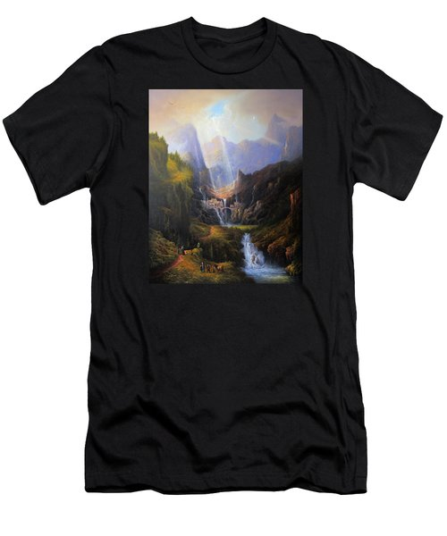 Rivendell. The Last Homely House.  Men's T-Shirt (Slim Fit) by Joe Gilronan