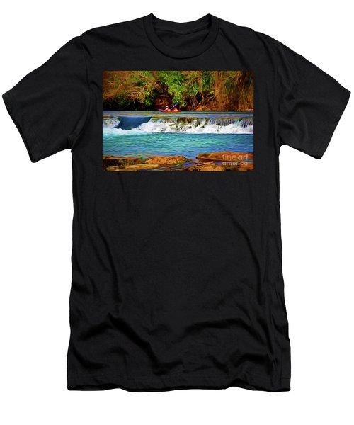 River Good Times 121217-1 Men's T-Shirt (Athletic Fit)