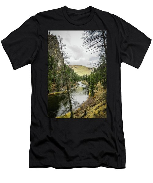 River In The Canyon Men's T-Shirt (Athletic Fit)