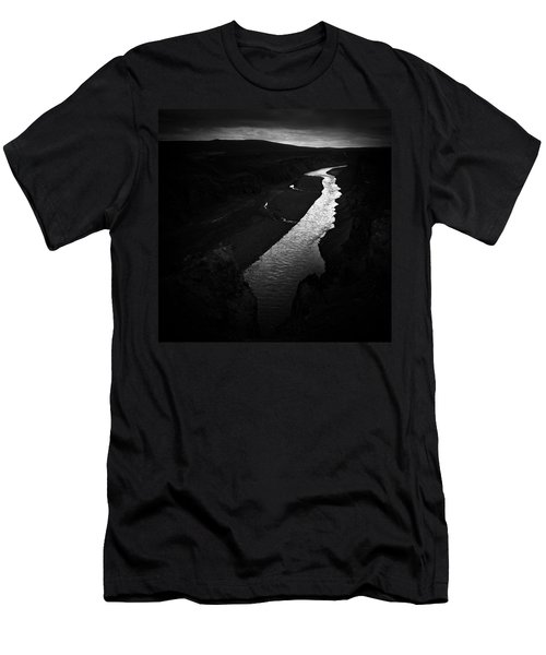 River In The Dark In Iceland Men's T-Shirt (Athletic Fit)