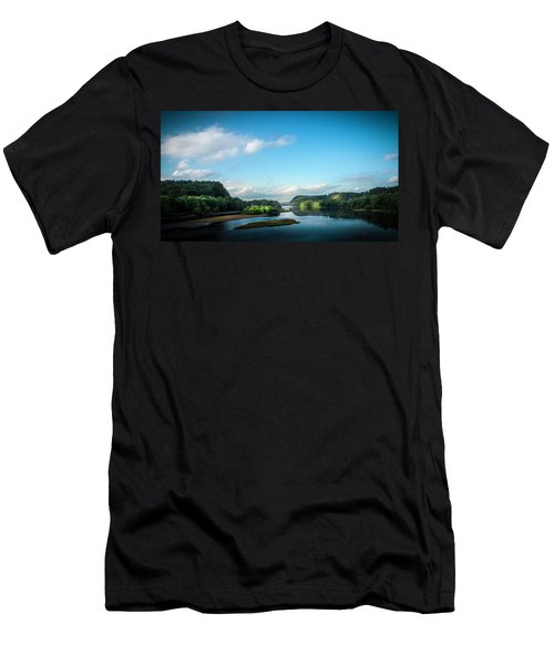Men's T-Shirt (Slim Fit) featuring the photograph River Islands by Marvin Spates