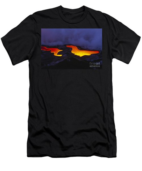 River Of Lava Men's T-Shirt (Slim Fit) by Peter French - Printscapes