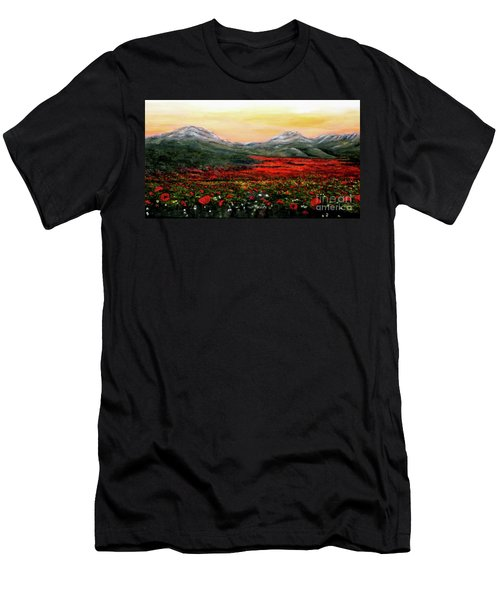 River Of Poppies Men's T-Shirt (Athletic Fit)