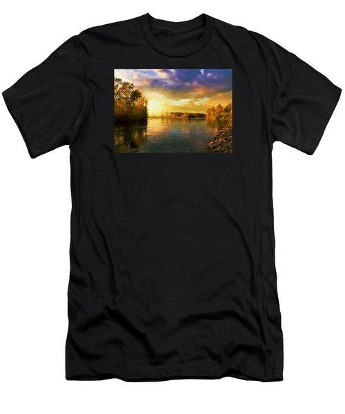 River Sunset Men's T-Shirt (Athletic Fit)