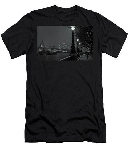 River Thames Embankment, London 2 Men's T-Shirt (Athletic Fit)