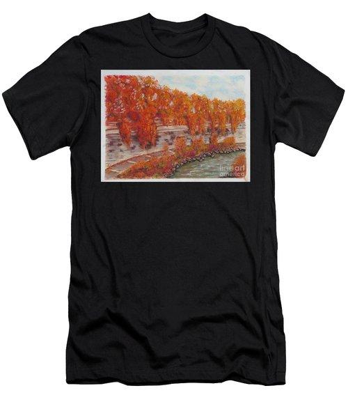 River Tiber In Fall Men's T-Shirt (Athletic Fit)