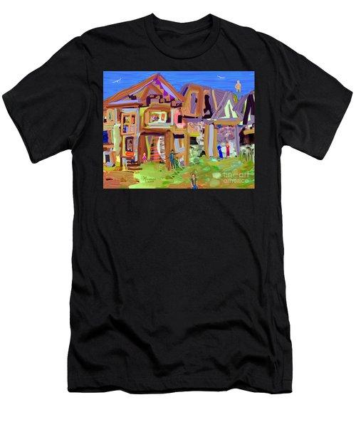 River Village Morning Men's T-Shirt (Athletic Fit)
