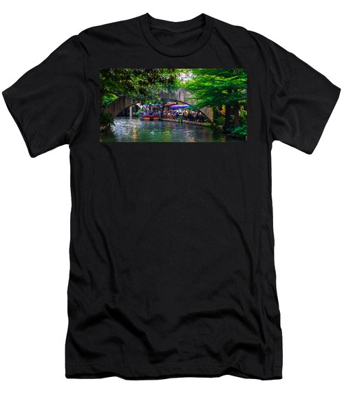 River Walk Dining Men's T-Shirt (Athletic Fit)