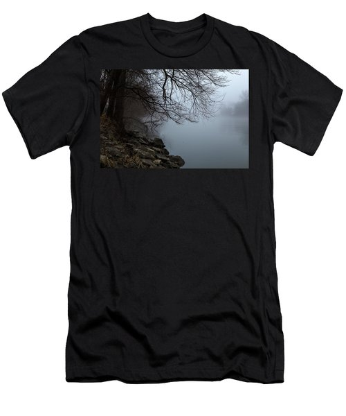 Riverbank In The Fog Men's T-Shirt (Athletic Fit)