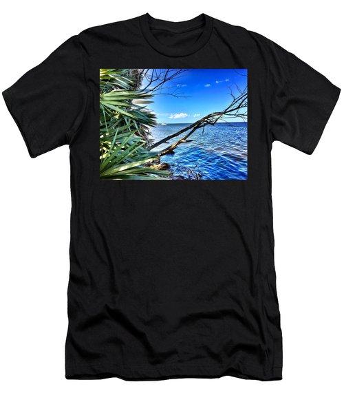 Riverside Men's T-Shirt (Slim Fit) by Carlos Avila