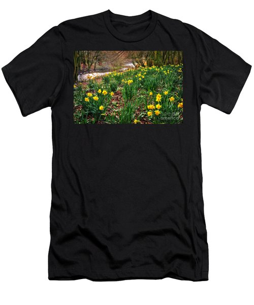 Riverside Daffodils In Spring Men's T-Shirt (Athletic Fit)