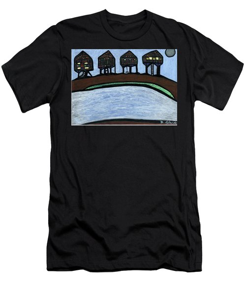 Riverside Men's T-Shirt (Slim Fit) by Darrell Black