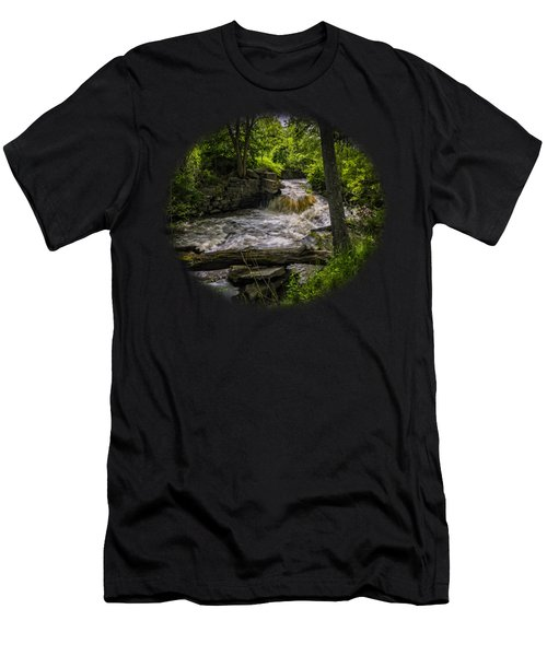 Men's T-Shirt (Athletic Fit) featuring the photograph Riverside by Mark Myhaver
