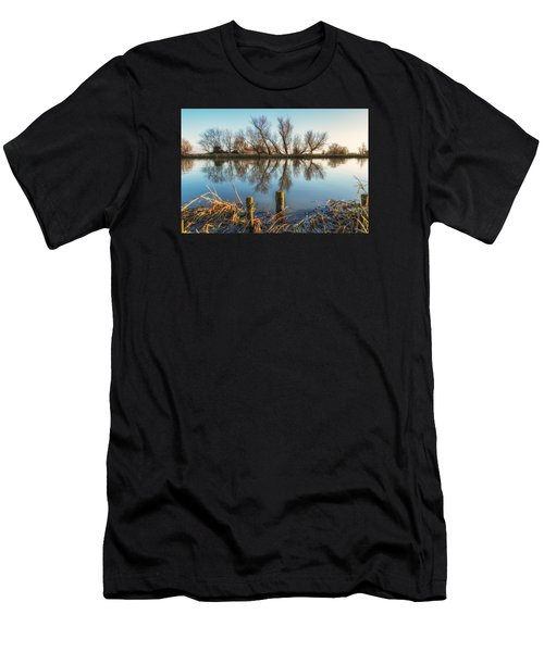 Men's T-Shirt (Athletic Fit) featuring the photograph Riverside Trees by James Billings