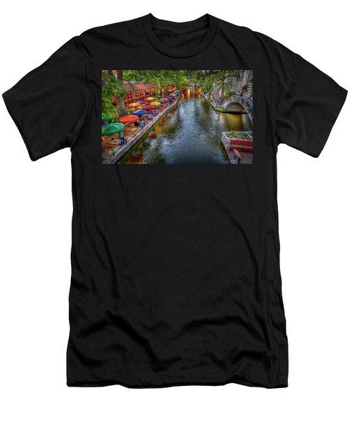 Riverwalk San Antonio Texas Men's T-Shirt (Athletic Fit)