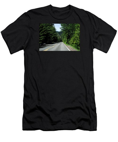Road Among The Trees Men's T-Shirt (Athletic Fit)