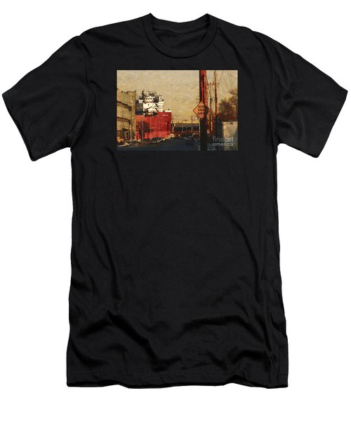 Men's T-Shirt (Slim Fit) featuring the digital art Road Ends Ahead by David Blank
