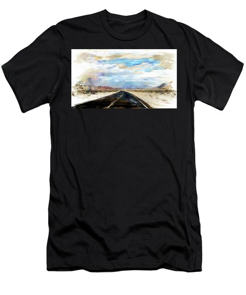 Road In The Desert Men's T-Shirt (Athletic Fit)