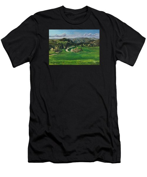 Road In The Mountains Men's T-Shirt (Athletic Fit)