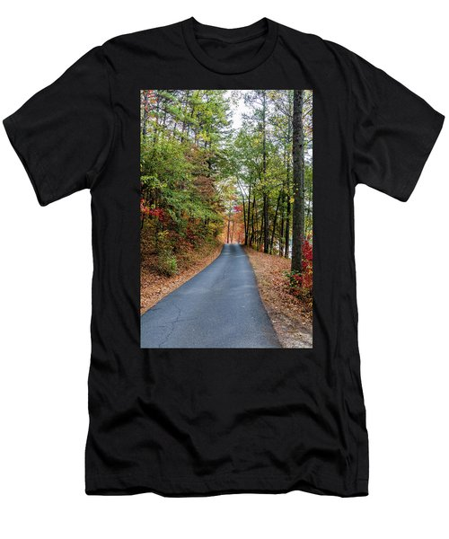 Road In The Woods Men's T-Shirt (Athletic Fit)