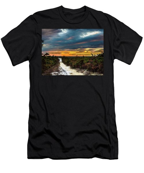 Road Into The Pinelands Men's T-Shirt (Athletic Fit)