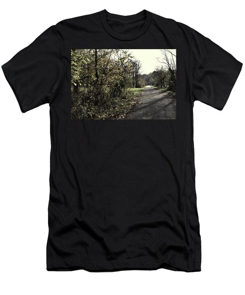 Road To Covered Bridge Men's T-Shirt (Athletic Fit)