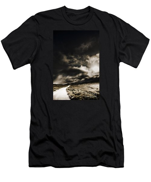 Men's T-Shirt (Athletic Fit) featuring the photograph Roads Of Atmosphere  by Jorgo Photography - Wall Art Gallery