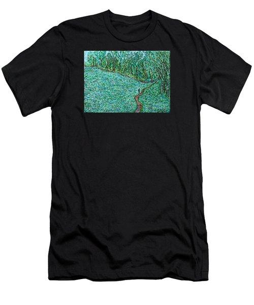 Roadside Green Men's T-Shirt (Athletic Fit)