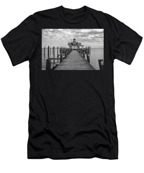 Men's T-Shirt (Athletic Fit) featuring the photograph Roanoke Marshes Light by David Sutton