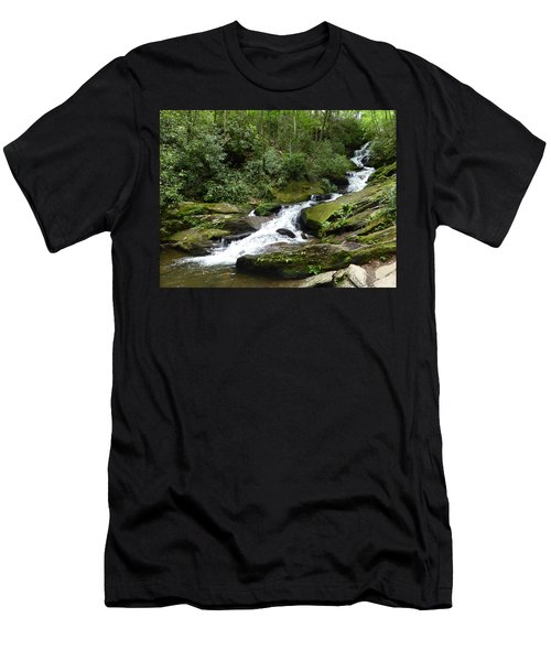 Men's T-Shirt (Athletic Fit) featuring the photograph Roaring Fork Falls June 2017 by Joel Deutsch