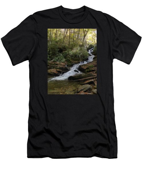 Men's T-Shirt (Slim Fit) featuring the photograph Roaring Fork Falls - October 2015 by Joel Deutsch