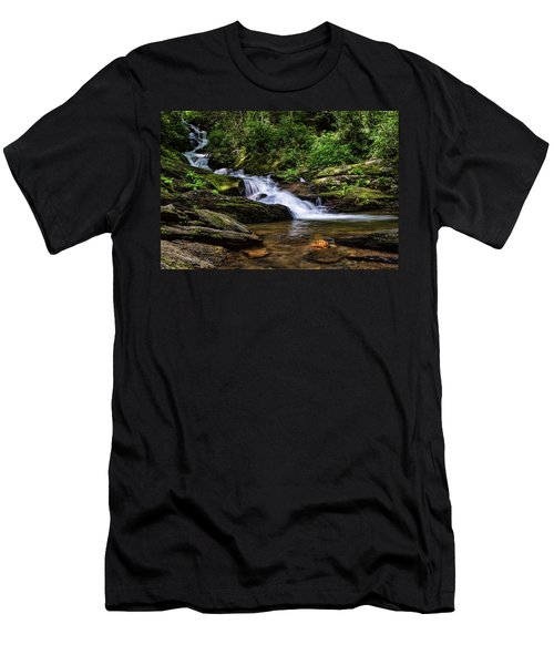 Roaring Fork Waterfall Men's T-Shirt (Athletic Fit)