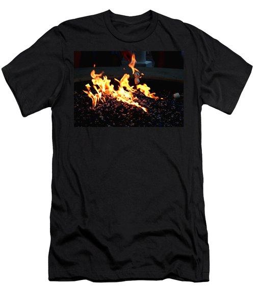 Roasting Marshmellows Men's T-Shirt (Slim Fit) by Cathy Harper