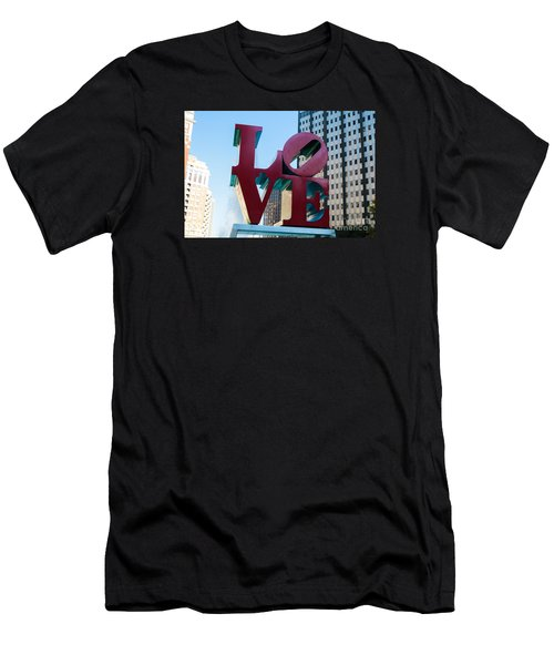 Robert Indiana Love Sculpture Men's T-Shirt (Athletic Fit)