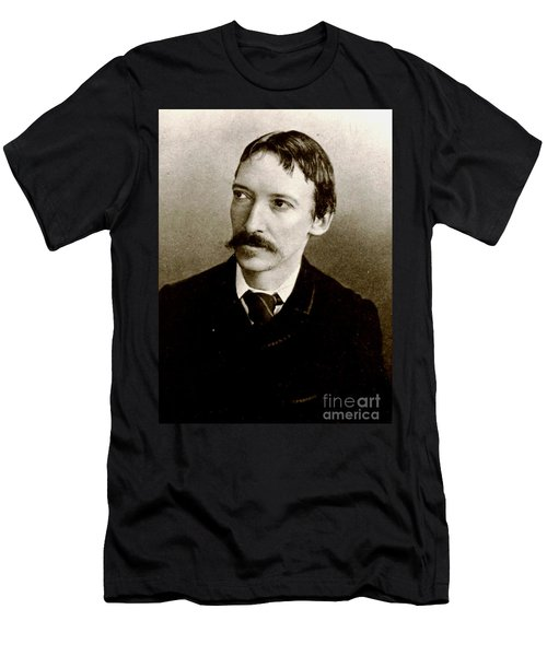 Men's T-Shirt (Slim Fit) featuring the photograph Robert Louis Stevenson by Pg Reproductions