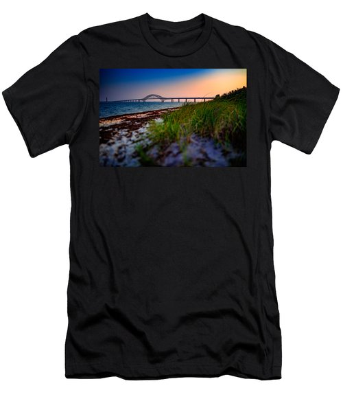 Robert Moses Causeway Men's T-Shirt (Athletic Fit)