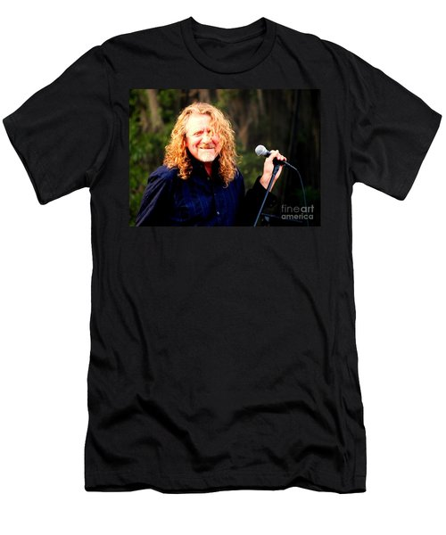 Robert Plant Men's T-Shirt (Slim Fit) by Angela Murray