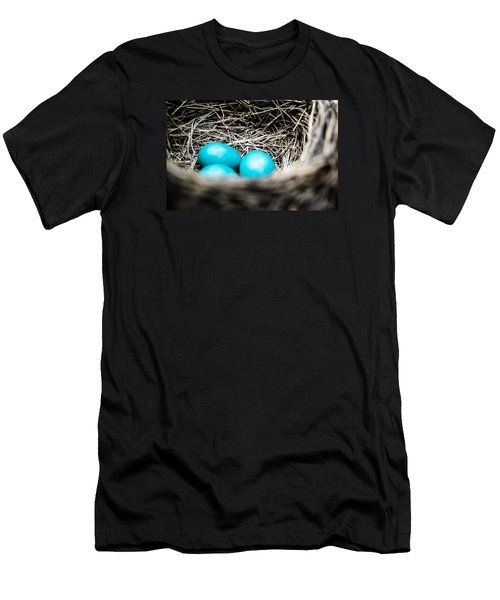 Robin's Eggs Men's T-Shirt (Slim Fit) by Shelby  Young