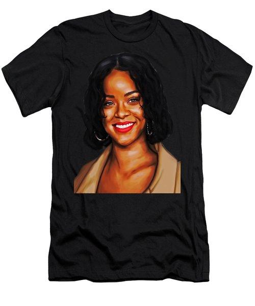 Robyn Rihanna Fenty Canvas  Men's T-Shirt (Athletic Fit)