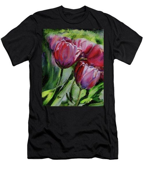 Rochelle's Springtime Tulips Men's T-Shirt (Athletic Fit)
