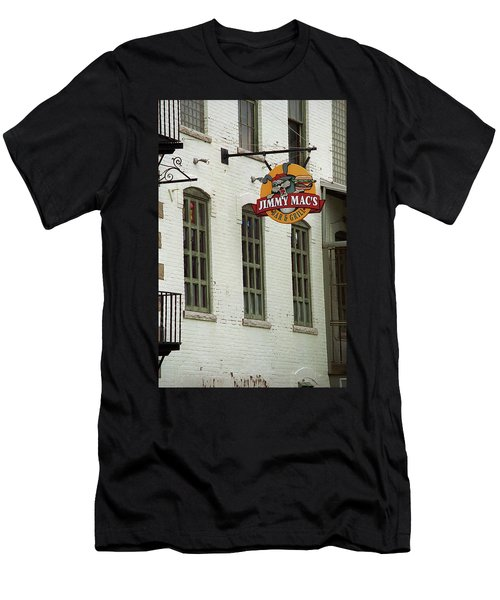 Men's T-Shirt (Slim Fit) featuring the photograph Rochester, New York - Jimmy Mac's Bar 3 by Frank Romeo