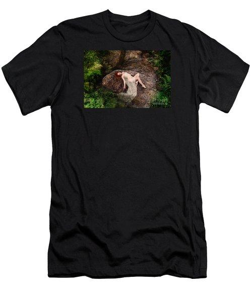 Rock Bathing Men's T-Shirt (Athletic Fit)