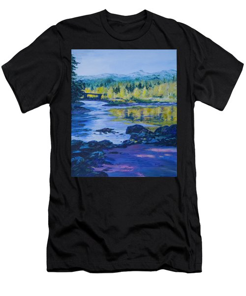 Rock Creek Fishing Hole Men's T-Shirt (Athletic Fit)