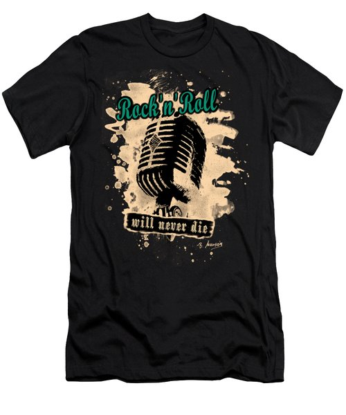 Rock-n-roll Microphone  Men's T-Shirt (Athletic Fit)