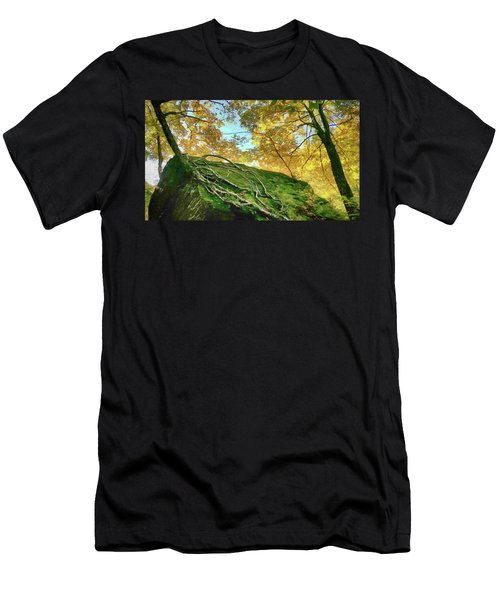 Men's T-Shirt (Athletic Fit) featuring the photograph Rock Of Ages by Jeff Folger