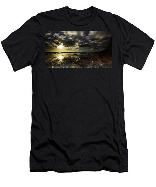 Rock Pool Sunrise Men's T-Shirt (Athletic Fit)