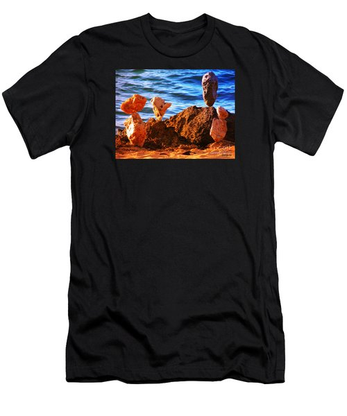 Rock Stacking Men's T-Shirt (Athletic Fit)
