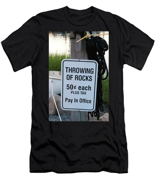 Rock Throwing Charge Men's T-Shirt (Athletic Fit)